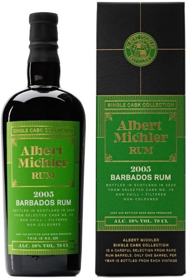 Rum Albert Michler Single Cask Barbados 15y 2005 0,7l 48% GB / Rok lahvování 2020