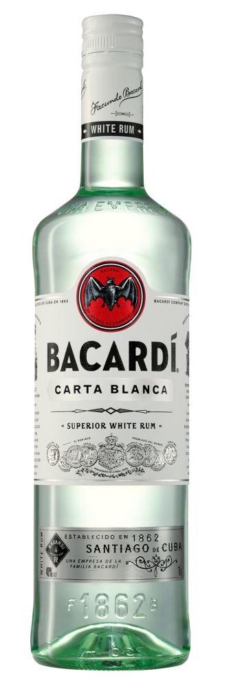 Rum Bacardi Carta Blanca 1l 37,5%
