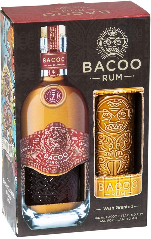 Rum Bacoo 7y 0,7l 40% + 1x sklo GB