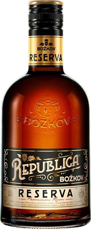 Rum Božkov Republica Reserva 0,5l 40%
