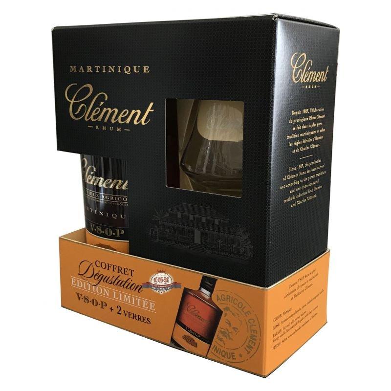 Rum Clement Vieux VSOP 4y 0,7l 40% + 2x sklo GB