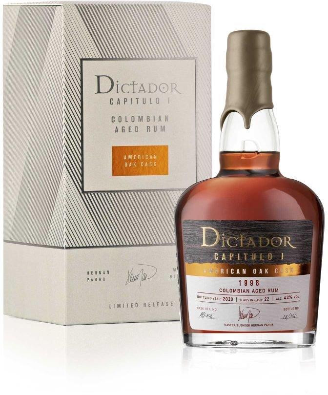 Rum Dictador Capitulo Uno American Oak Cask 22y 1998 0,7l 42% / Rok lahvování 2020