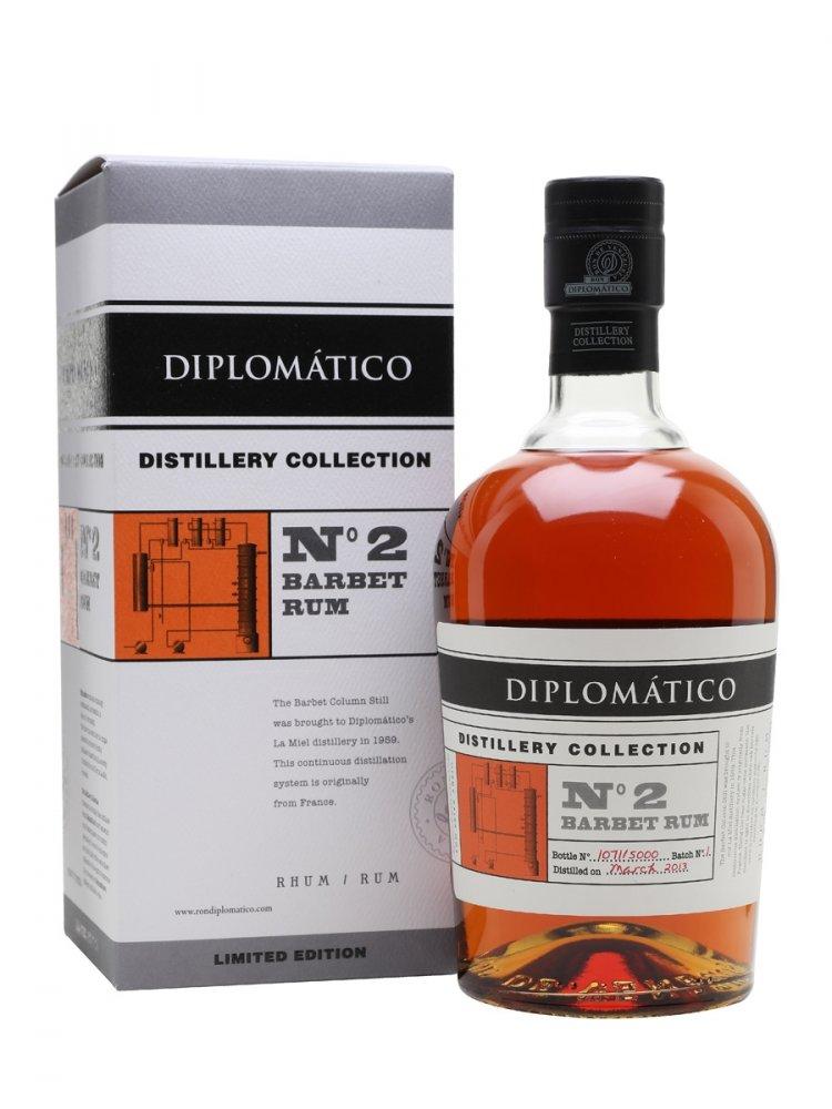 Rum Diplomatico No. 2 Barbet Rum Distillery Collection 4y 2013 0,7l 47% L.E. / Rok lahvování 2017