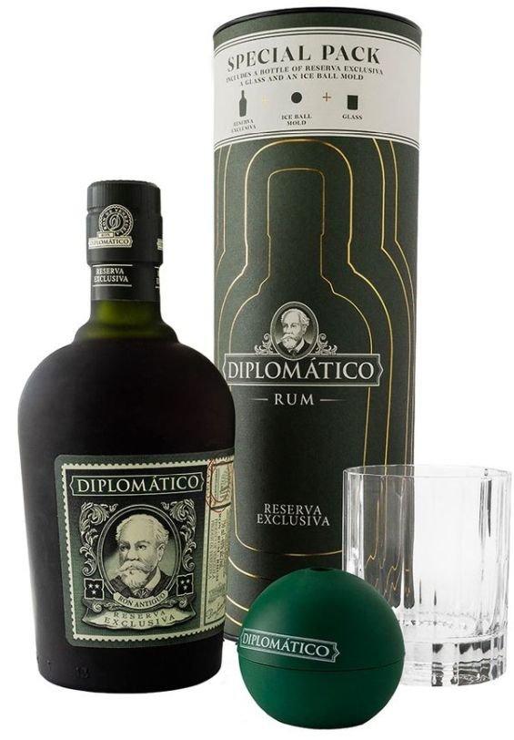 Rum Diplomático Reserva Exclusiva Special Pack 12y 0,7l 40% Tuba