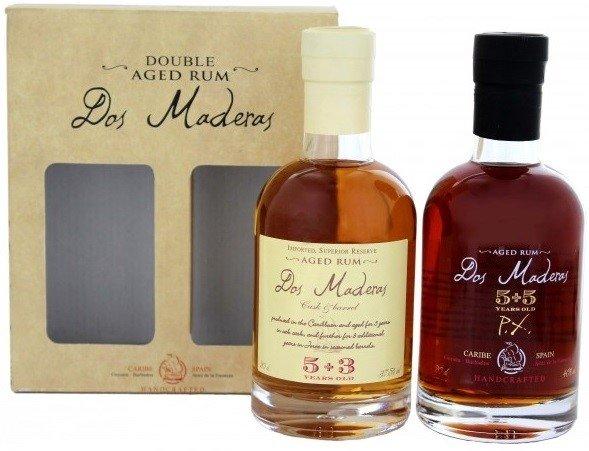 Rum Dos Maderas PX 10yo 40% Rum + Dos Maderas Anejo 5+3 Rum 37,5% set 2 x 0,2l GB