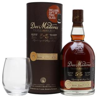Rum Dos Maderas Ron Superior Reserve PX 10y 0,7l 40% + 1x sklo GB