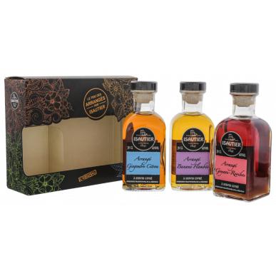 Rum Isautier Arrangé Gift set 3×0,2l 40% GB