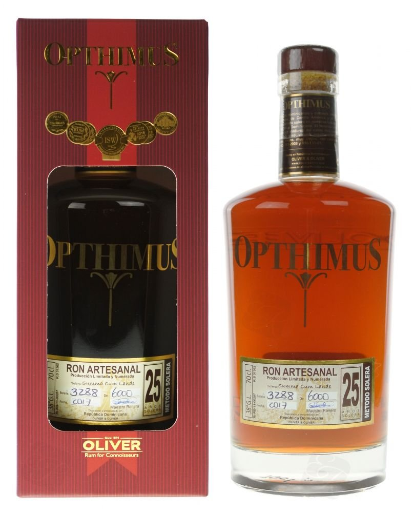 Rum Opthimus 25y 0,7l 38% GB