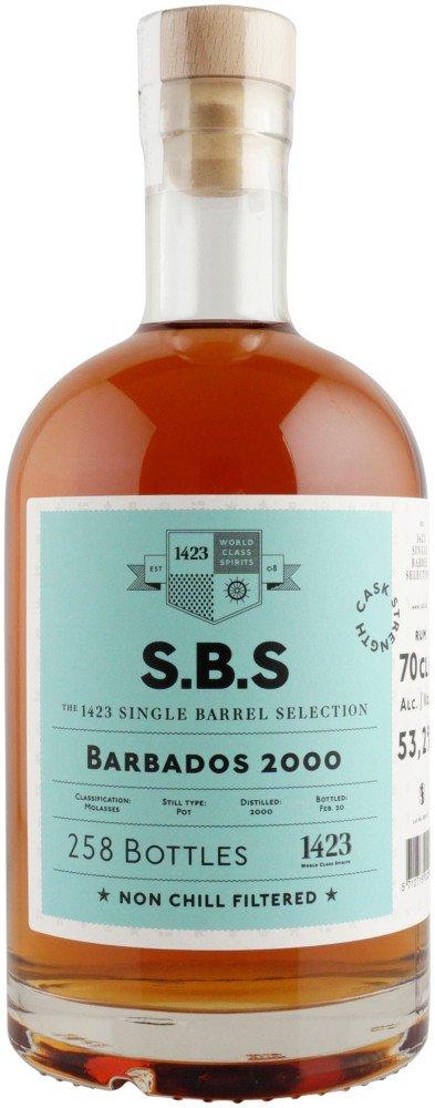 Rum S.B.S Barbados 20y 2000 0,7l 53,2% L.E. / Rok lahvování 2020