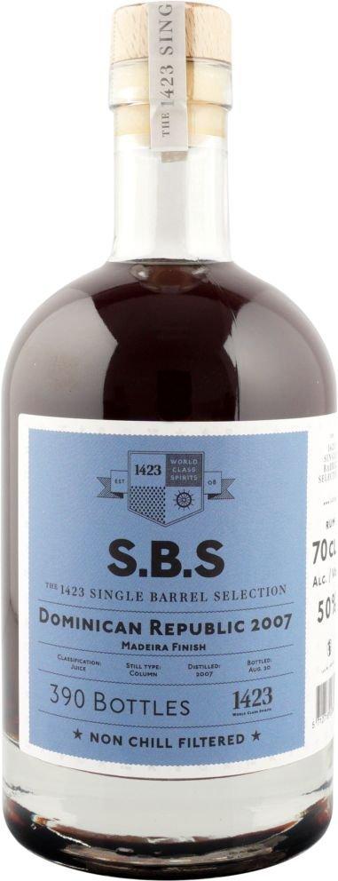 Rum S.B.S Dominican Republic 13y 2007 0,7l 50% / Rok lahvování 2020