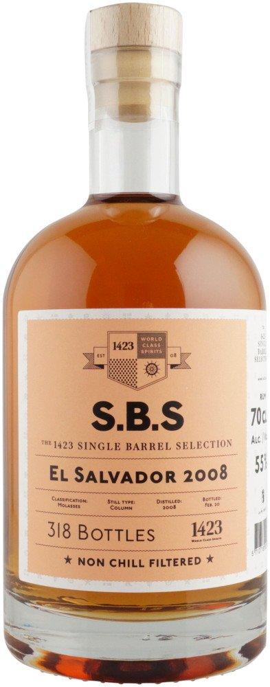 Rum S.B.S El Salvador 12y 2008 0,7l 55% L.E. / Rok lahvování 2020