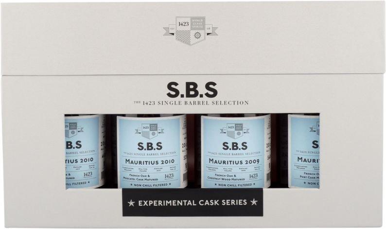 Rum S.B.S Experimental Cask Series Mauritius 4×0,2l GB