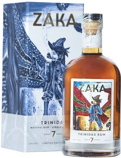 Rum Zaka Trinidad 7y 0,7l 42% L.E.